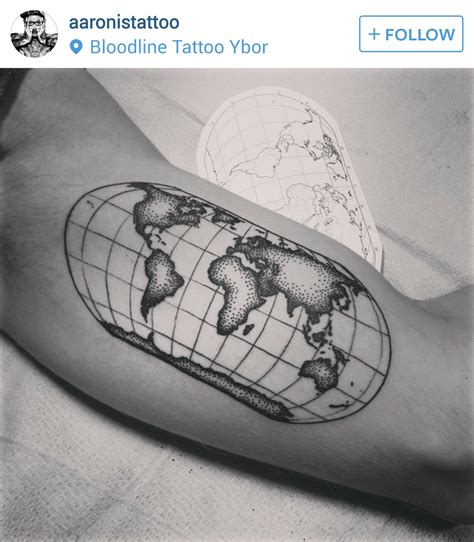 pinterest tattoo globe world globe arm tattoo things for bri pinterest