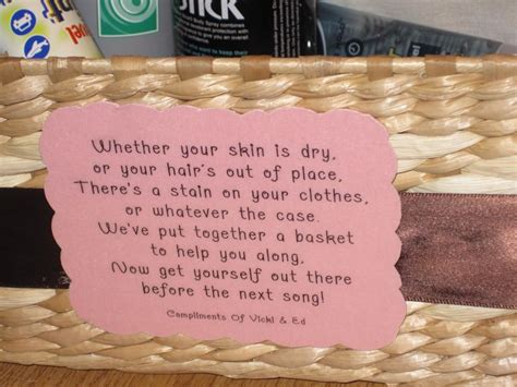 bathroom baskets for wedding reception wedding bathroom basket poem wedding reception ideas