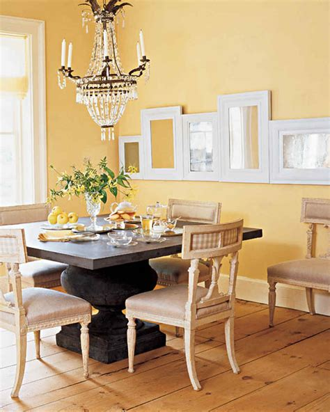 yellow dining room ideas yellow rooms martha stewart