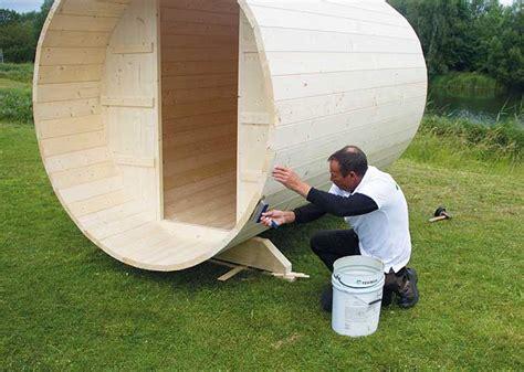 Ein Sauna Fass Aufbauen Schritt