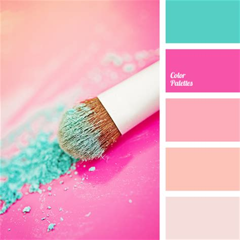 color combination with pink pink and emerald green color palette ideas