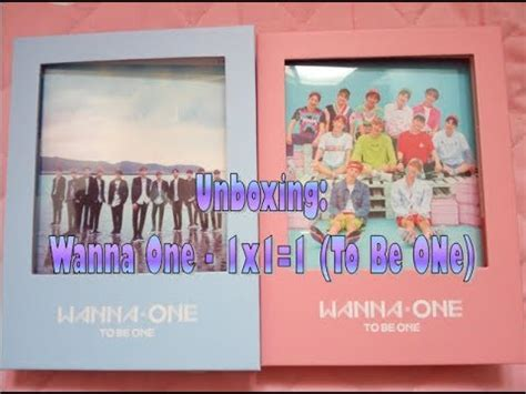 Wanna One 1st Mini Album To Be One Pink Ver Sky Ver wanna one 워너원 1x1 1 to be one 1st mini album pink sky ver ita