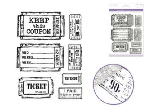 discount rubber sts coupon forever in time clear cling rubber st tickets set keep