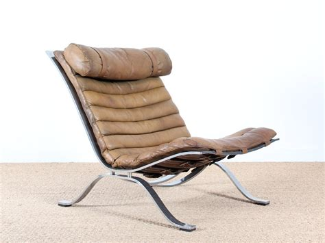 Brown Leather Armchairs For Sale by Brown Leather Armchairs By Arne Norell For Norell Set Of