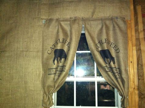 grain sack curtains cattle feed sack curtain my style pinterest curtains