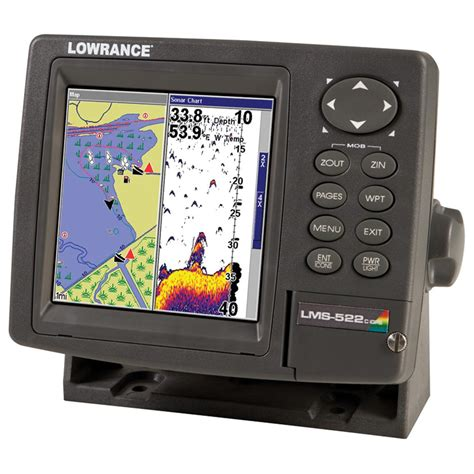 lowrance 174 lms 522c igps chartplotter fishfinder with