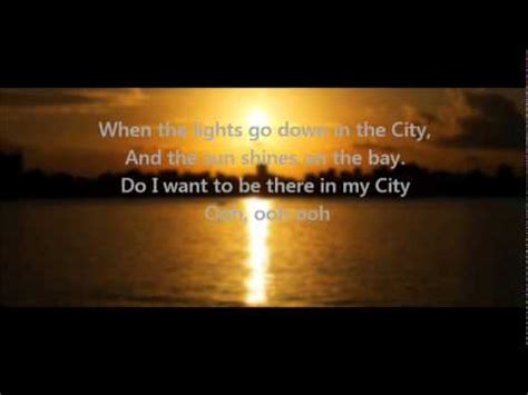 journey lights go in the city w lyrics