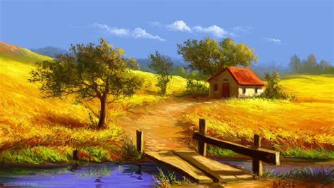 Yellow Landscape Pictures Yellow Landscape Painting Images