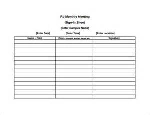 meeting sign in sheet template sle meeting sign in sheet 9 documents in pdf word