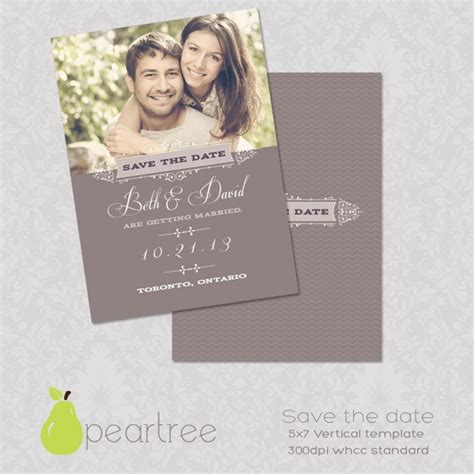 5x7in Save The Date Psd Template 106 Diy Templates Invitations Luvly Save The Date Website Template