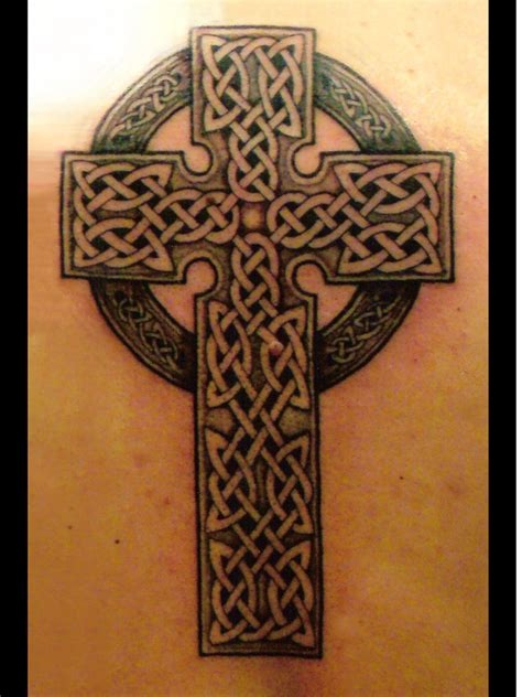 shamrock cross tattoo celtic cross tattoos