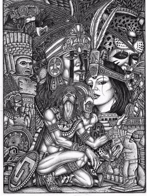 imagenes aztecas cholas aztec drawing tattoo ideas pinterest aztec