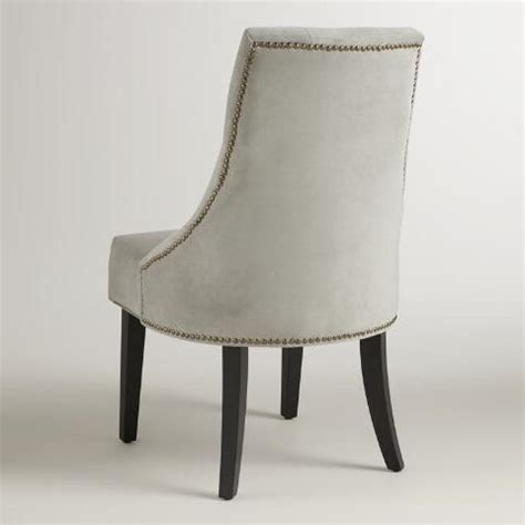 Gray Tufted Dining Chairs Dove Gray Tufted Lydia Dining Chairs Set Of 2 World Market