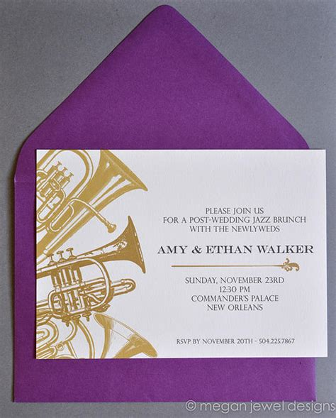 new orleans style wedding invitations new orleans jazz brunch invitation invitations by megan