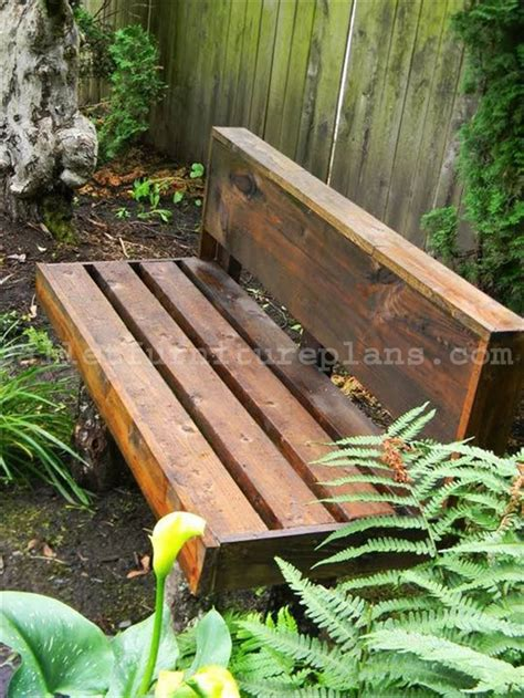 how to make a garden bench from a pallet 15 diy outdoor pallet bench pallet furniture plans