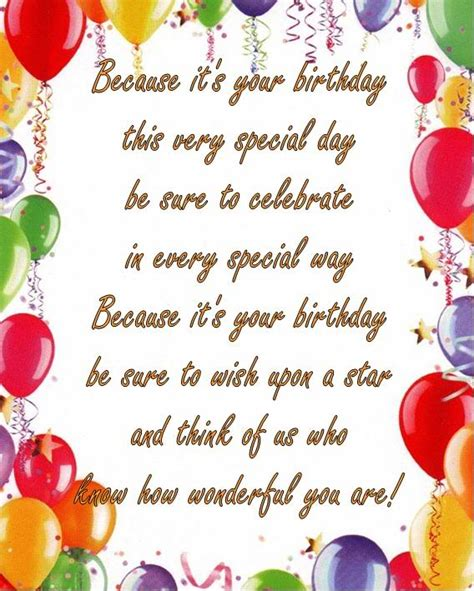 Quotes About Your Birthday Because It S Your Birthday This Very Special Day