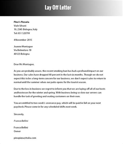 Cover Letter After Being Laid laid letter template pertamini co