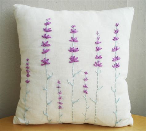 Pillow Slip Cover by Embroidered Pillow Covers Purple Buzzardfilm