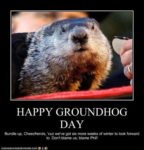 groundhog day saying speak of the attack of the groundhogs