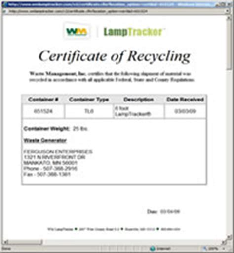 certificate of recycling template certificate of recycling template ltrackerr waste