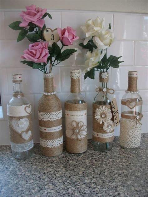 aus flaschen vasen machen tischdeko basteln die kreativit 228 t f 246 rdern archzine net