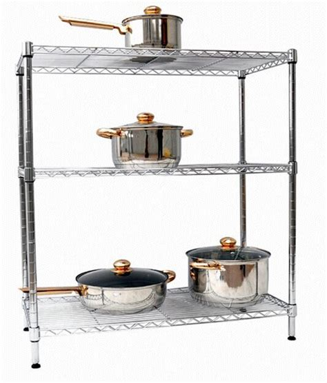 Stainless Steel Spice Racks For Kitchen Ajustable And Dismoutable Stainless Steel Spice Rack