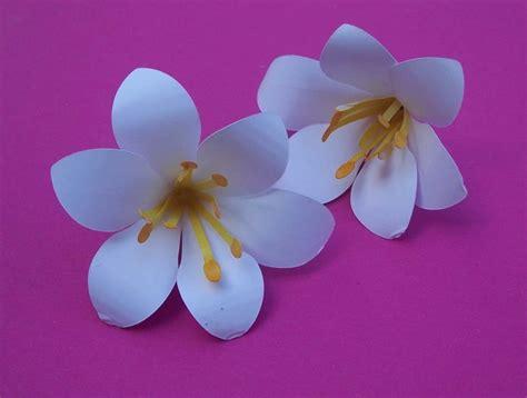 blumen aus papier basteln blumen aus papier basteln lilie bastelfrau