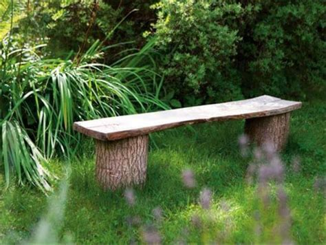 diy log bench 11 diy outdoor table and bench design diy to make