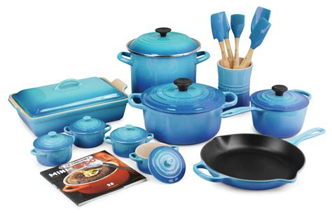 Tamahagane Kitchen Knives by Le Creuset Signature Cast Iron Cookware Set 20 Piece