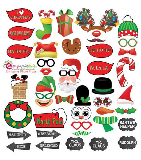 xmas photo booth props printable pdf 46 hilarious christmas photo booth props with chalkboard