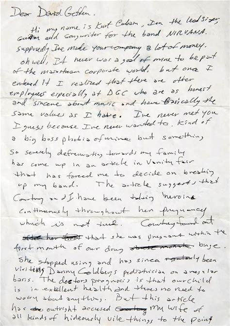 To Auction Kurts Stuff by Lennon S Handwritten Lyrics Cobain S Angry Note Up For