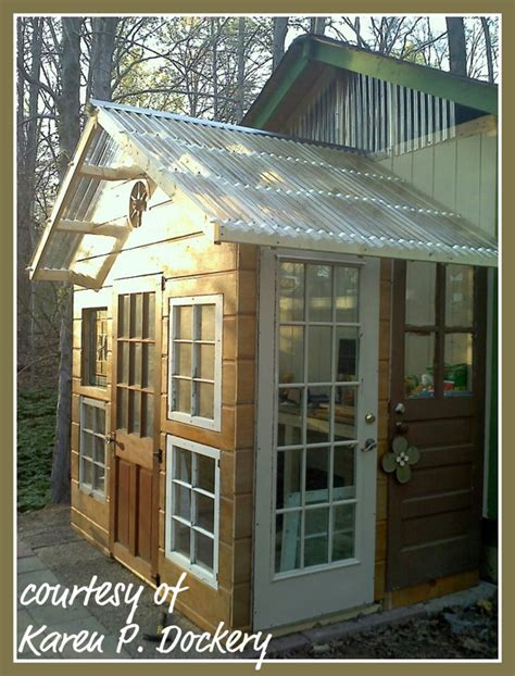 Shed Made From Doors by Reuse And Repurpose A Garden Shed Made Out Of Salvaged