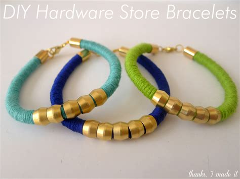 bracelets diy thanks i made it diy hardware store bracelets