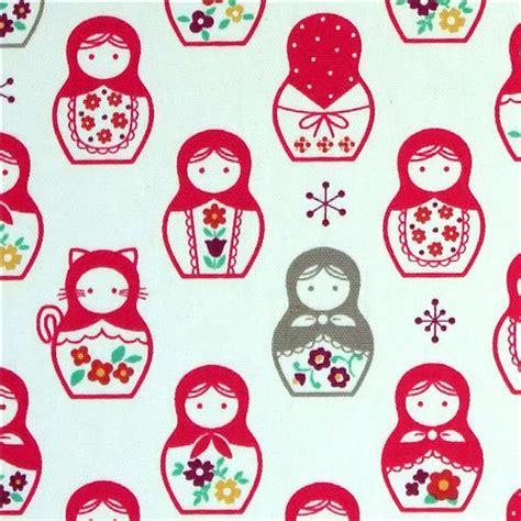 doll design wallpaper pink matryoshka dolls kokka fabric japan babushka