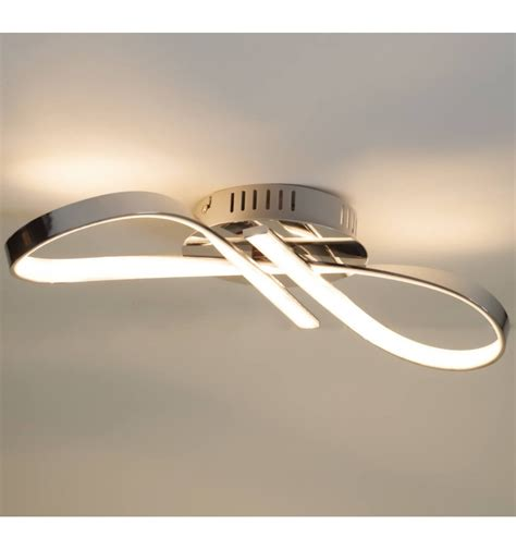 ceiling light design ceiling light design led chromed infinite ribbon 15 w