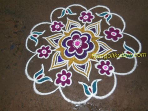 new design flower kolam with dots easy rangoli designs with dots step by step www imgkid