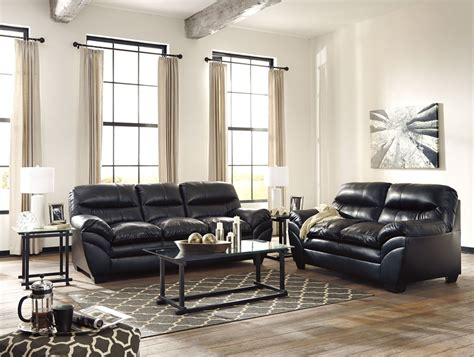 black living room set tassler durablend black living room set from ashley