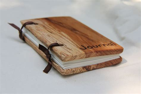 small woodcover blank journal   reclaimed wood