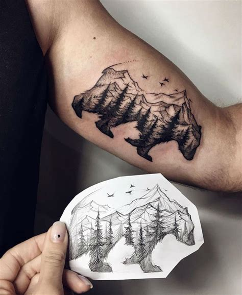 cheap tattoo ideas for men 30 epic mountain ideas