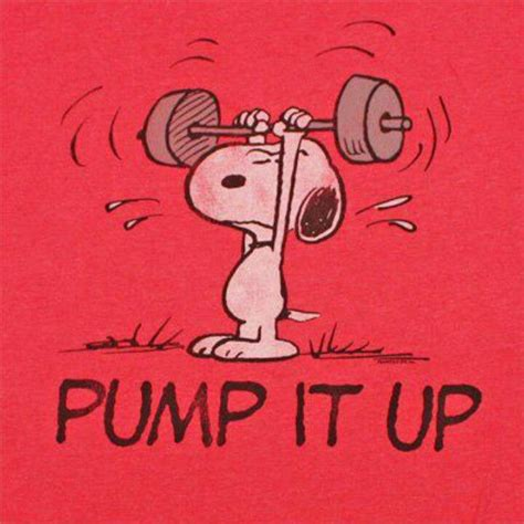 Peanuts Friends Big Fit Snoopy Wants You To It Up Or Exercise Fitde