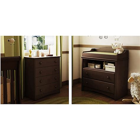 Espresso Dresser Changing Table South Shore Collection Changing Table And 4 Drawer Dresser Finishes Walmart