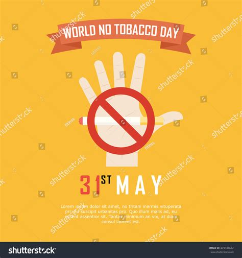 day no world no tobacco day no caign stock vector