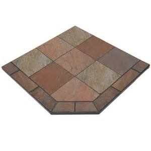 fireplace hearth pads bone slate 48 x 48 single cut corner hearth