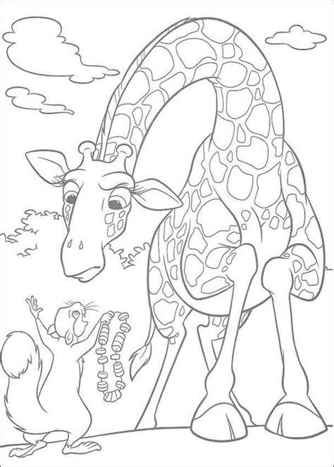 dibujos para colorear zoo dibujo para colorear jirafa 01