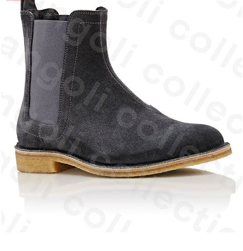 Mens Handmade Boots - handmade black suede leather boot mens crepe sole
