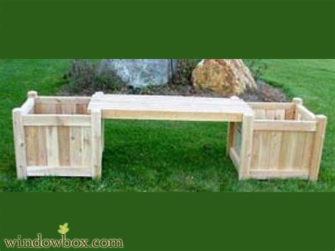 garden box bench cedar garden benches outdoor planters seating windowbox com