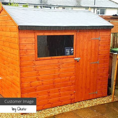 6 x 8 walton s overlap apex wooden shed waltons sheds
