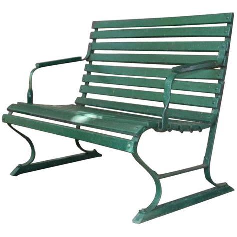 green garden bench small green garden bench for sale at 1stdibs