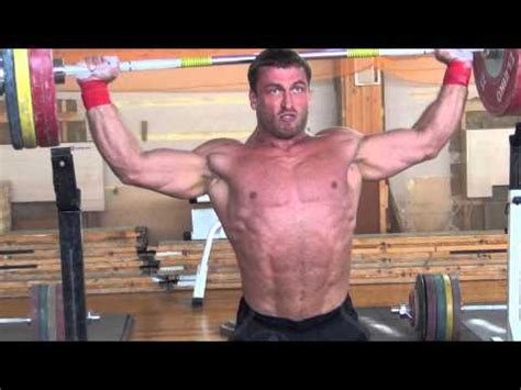 dmitry klokov bench press dmitry klokov 125kg x3 behind the neck snatch grip press