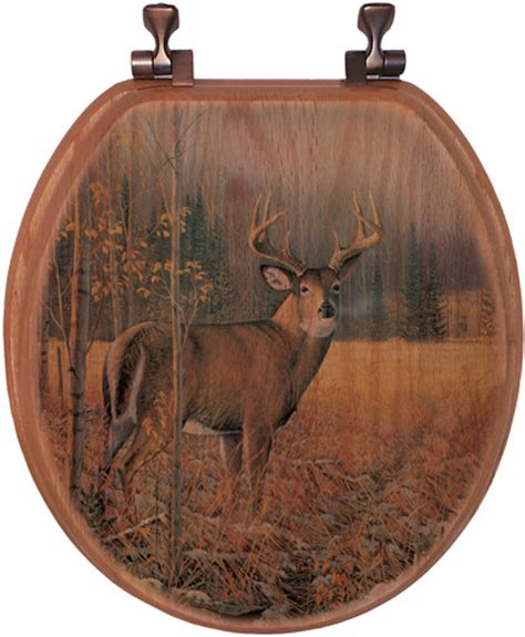 whitetail deer bathroom accessories november whitetail deer toilet seat elongated